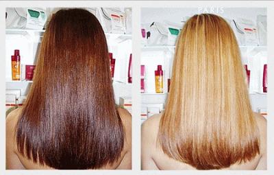 Шевелюра до и после применения профессиональной смывки