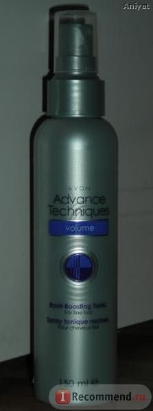 "Тоник-спрей для прикорневого объёма волос Avon ""Объём и сила"" Advance Techniques фото"