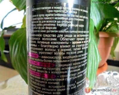 Спрей для волос Белита-Витэкс Спрей Крапива и Аргинин против ломкости несмываемый, для истонченных и секущихся волос