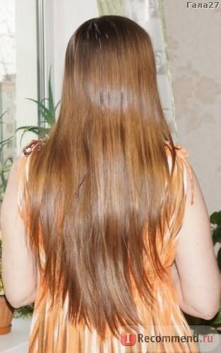 Сухие волосы до применения спрея