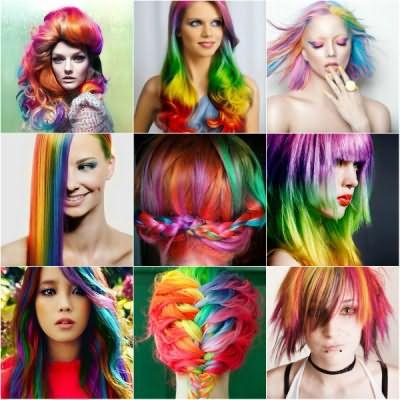 Краска-спрей разных оттенков поможет вам создать оригинальный образ