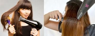Выпрямляйте волосы круглой расческой