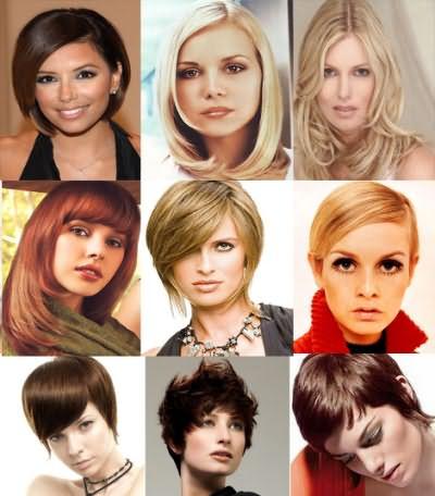 На фото варианты моделирования прядей для разных типов лица