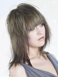Укладка женской стрижки каскад с прямой челкой и окрашиванием длинных волос в пепельный цвет хорошо подойдет как для создания романтического образа, так и для повседневного стиля