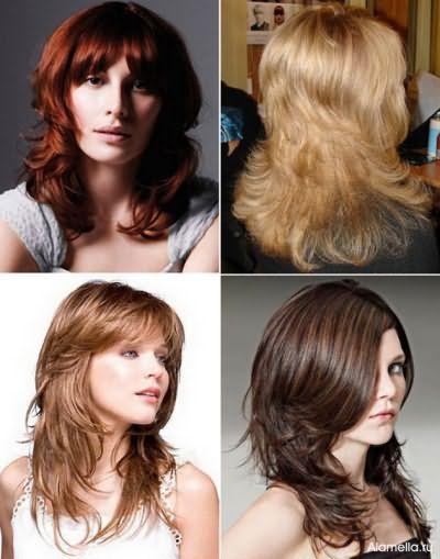 Стрижка рапсодия для средних волос прекрасно смотрится на прямых и вьющихся прядях.