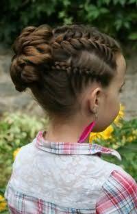 Прическа с плетением для девочки 10 лет