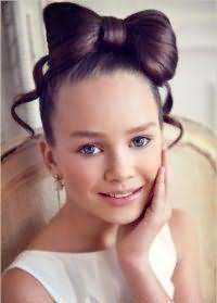 Модная прическа бант для девочек 12 лет