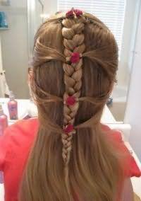 Прическа с плетением для девочек 12 лет