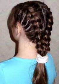 Прическа из косичек для девочек 12 лет