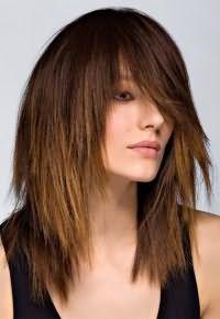 рваная стрижка на длинные волосы