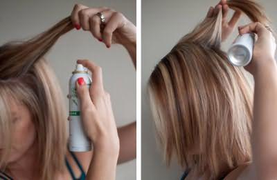 Способ применения сухого шампуня очень прост