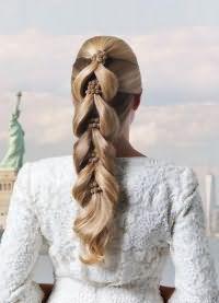 Модные свадебные прически 2016 10