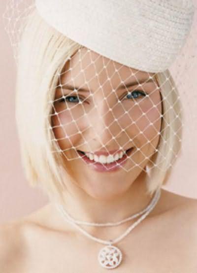 Свадебное каре с вуалью