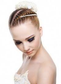 Свадебная прическа для коротких волос.