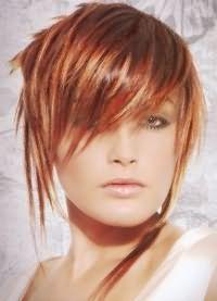 рыжий цвет волос с мелированием 1