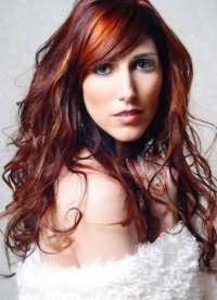 рыжий цвет волос с мелированием 2