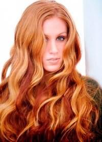 рыжий цвет волос с мелированием 4