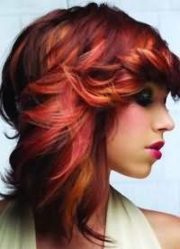 рыжий цвет волос с мелированием 7