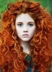 рыжий цвет волос с мелированием 8
