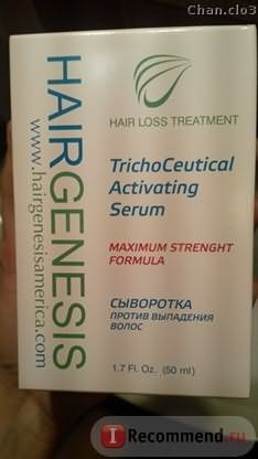 Средство от выпадения волос HairGenesis TrichoCeutical Activating Serum фото