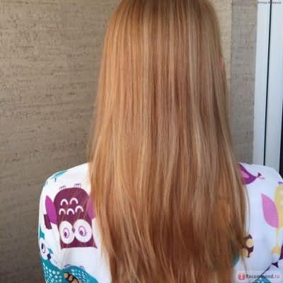 Волосы после двух смывок хны и сверху заламинированы