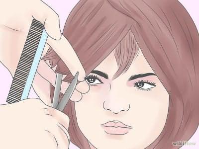 4 этап выполнения стрижки каре-боб