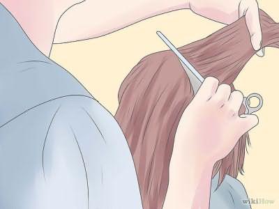 6 этап выполнения стрижки каре-боб