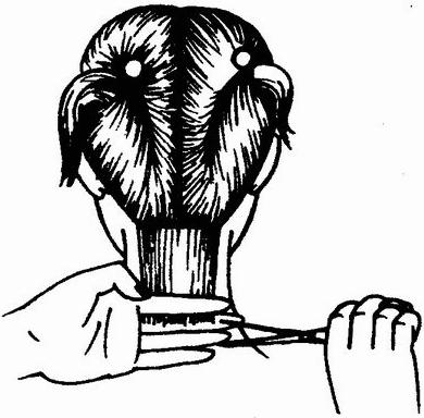 Шаг 1 Как стричь каре на удлинение
