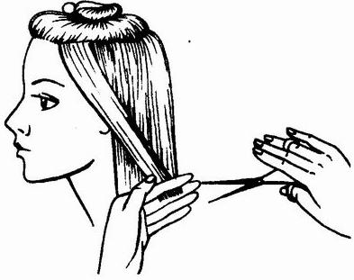 Шаг 3 Как стричь каре на удлинение