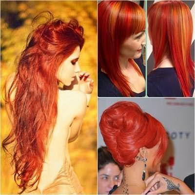 Темно рыжая краска для волос позволяет делать двуцветное окрашивание и колорирование