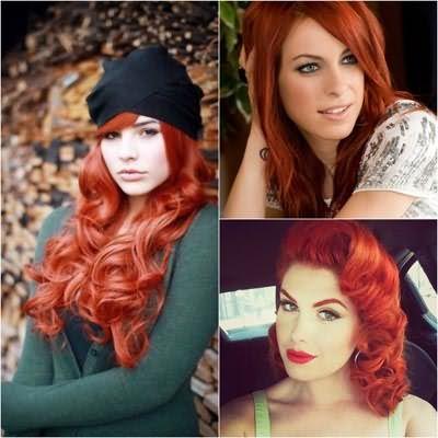Даже рыжее омбре на темные волосы потребует от вас идеального цвета кожи