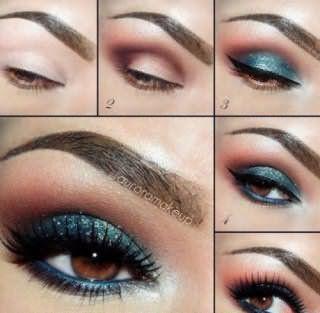 Поэтапное создание свадебного макияжа для карих глаз
