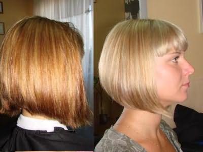 На фото изображены волосы до и после тонирования