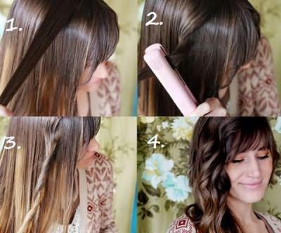 Делаем локоны на длинные волосы утюжком