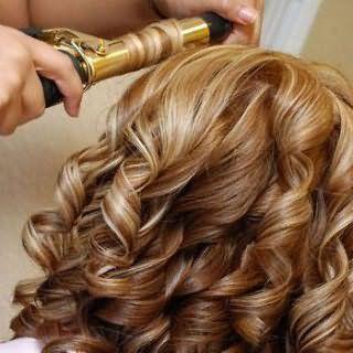 Укладка длинных волос плойкой