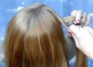 укладка дома на средние волосы 3
