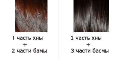 Смешивание хны с басмой в различных соотношениях позволяет получить разнообразный спектр оттенков.