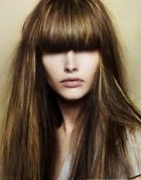 Мелирование челки и длинных волос