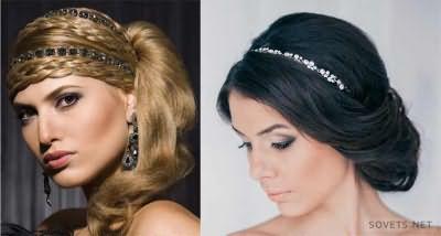 Свадебные прически в греческом стиле для средних волос