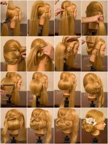 Свадебная прически на длинный волос пошагово
