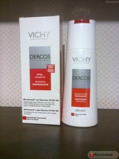 Тонизирующий шампунь Vichy Dercos Technique с аминексилом фото