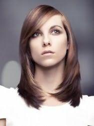 Стрижка каскад для тонких длинных волос гармонично смотрится в тандеме с косой удлиненной челкой и мелированием в кофейно-русых тонах