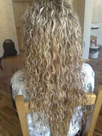 Завивка на длинные волосы