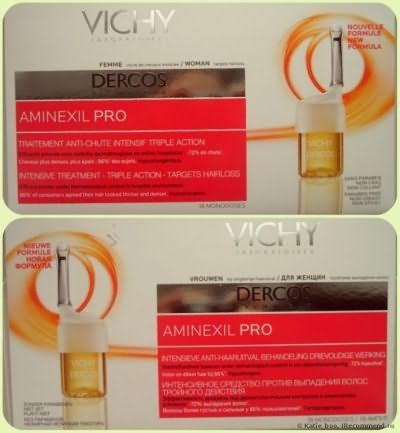 Ампулы для волос Vichy Aminexil pro фото
