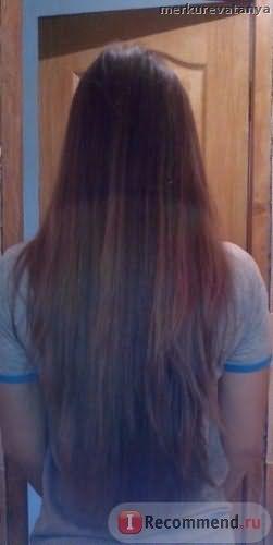 Волосы после спрея (со вспышкой)
