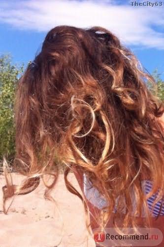 волосы до на пляже