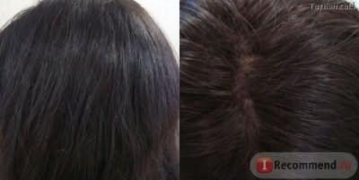 Волосы при дневном освещении (пробор).