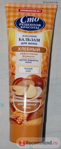 Бальзам для волос Сто рецептов красоты Хлебный фото