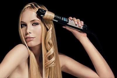 Создаем волны с помощью утюжка для волос