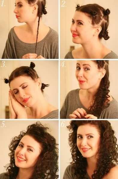 Вот такие красивые кудряшки получаются из скрученных в жгутики волос